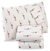 Martha Stewart Whim Collection Flamingos Full Sheet Set (100% Cotton) 4 Pcs
