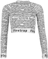Firetrap Luxe Jacquard Crop Top Ladies