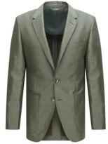 HUGO BOSS T-Hanley Slim Fit, Linen Cotton Silk Sport Coat 38RGreen