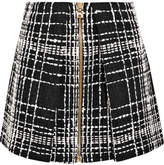 Balmain Bouclé Mini Skirt - Black
