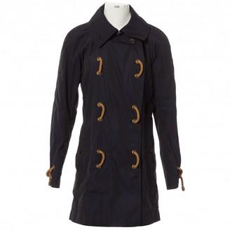 Saint Laurent Navy Coat for Women