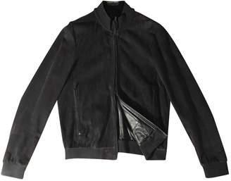 Armani Collezioni Navy Leather Jackets