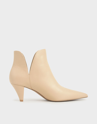 Charles & Keith Cone Heel Ankle Boots