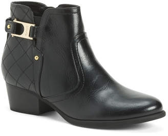 Buckle Stitch Ankle Booties