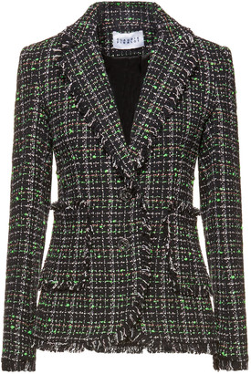 Claudie Pierlot Vitamina Frayed Cotton-blend Tweed Blazer