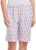 Karen Neuburger Printed Knit Shorts