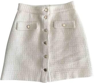 Maje Spring Summer 2018 Beige Tweed Skirt for Women