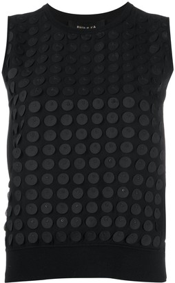 Paule Ka Polka Dot Applique Tank Top