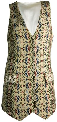 Relax Baby Be Cool Womens Long Smoking Vest With Pearl Embroidery