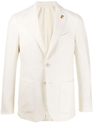 Pal Zileri Textured Single-Breasted Blazer