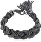 Emanuele Bicocchi Medium Braided Sterling Silver Bracelet