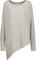 Haute Hippie The Traveler asymmetric marled stretch-modal sweater