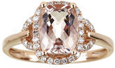 FINE JEWELRY LIMITED QUANTITIES Cushion-Cut Genuine Morganite and 1/4 CT. T.W. Diamond Ring