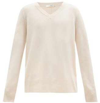 The Row Elaine V-neck Wool-blend Sweater - Beige