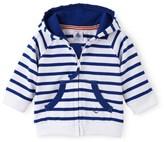 Petit Bateau Baby boy heavy jersey hooded sweatshirt