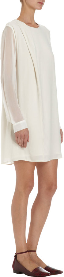 Thakoon Long Sleeve Drape Dress