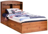 Green Baby South Shore Logik Collection Twin (39'') Mates Bed - Sunny Pine