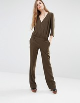 BA&SH Allure Wrap Front Jumpsuit