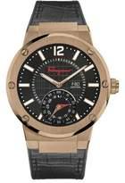 Salvatore Ferragamo 44mm F-80 Motion Leather Smartwatch, Black