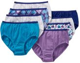 Hanes Girls 4-16 8-pk. Patterned Cotton Briefs