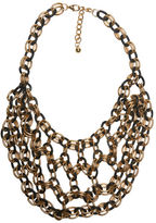 Arden B Two-Tone Chain Bib Necklace