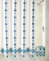 John Robshaw Aloka Blue Shower Curtain