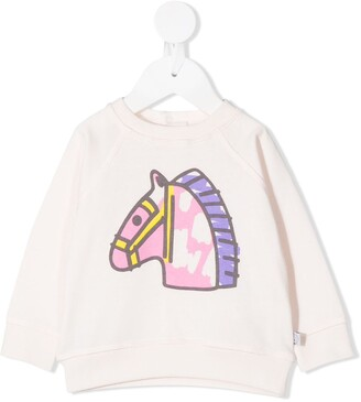 Stella Mccartney Kids Horse-Print Sweatshirt