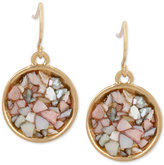 Kenneth Cole New York Gold-Tone Multicolor Stone Drop Earrings