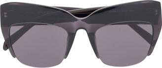 Emilio Pucci Semi-Rimless Oversized Frame Sunglasses