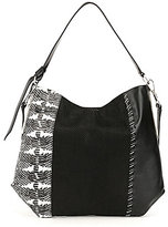 Louise et Cie Melle Whip-Stitched Paneled Hobo Bag