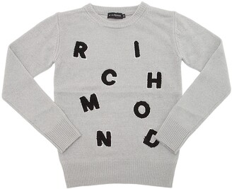 John Richmond Logo Patches Knitted Sweater