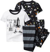 Carter's Black Space 4-pc. Pajama Set - Baby Boys newborn-24m