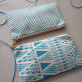 Mr.PS 'Zig Zag Dot' Screenprinted Fabric Pencil Case
