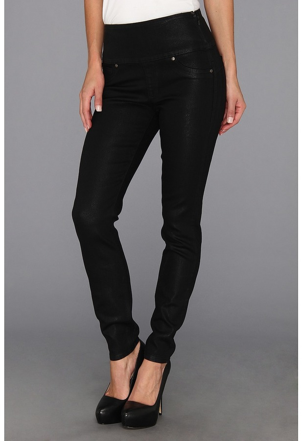 Spanx Wax Denim Leggings (Black Wax) - Apparel