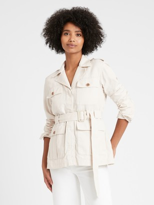 Banana Republic Petite Heritage Cotton-Linen Safari Jacket