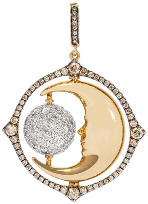 Annoushka Mixed Gold and Diamond Mythology Spinning Moon Charm