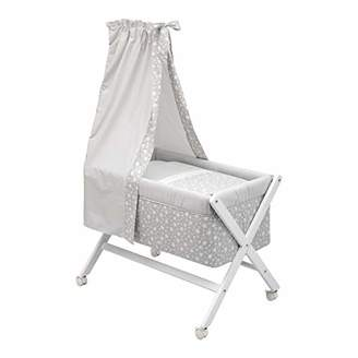 Camilla And Marc Cambrass Small Bed/Crib X Wood Une with Canopy (55 x 87 x 74 cm, Star Grey)