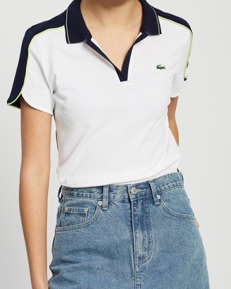 Lacoste Golf Stretch Mini Pique Polo