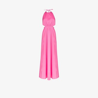 STAUD Apfel halterneck maxi dress