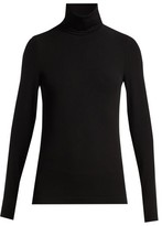Wolford Aurora Roll-neck Jersey Top - Womens - Black