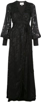 Alexis Antonella wrap maxi dress