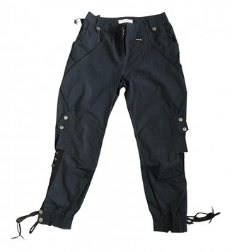 Christian Dior Blue Cotton Trousers