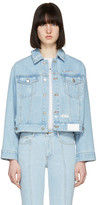 Sjyp Blue Denim Back Button Jacket