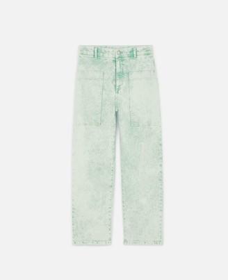 Stella McCartney green denim jeans