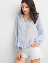 Gap Long sleeve peplum top