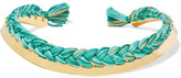 Aurelie Bidermann Gold-plated Braided Cotton Choker - one size