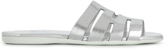 Hogan Flat Metallic Sandals