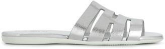 Hogan flat metallic sandals