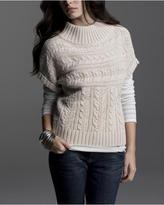 Short-Sleeve Funnel-Neck Sweater