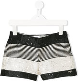 Karl Lagerfeld striped sequin shorts
